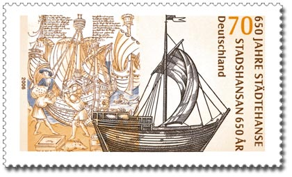 בול גרמני לציון 650 שנה לברית ההנזה